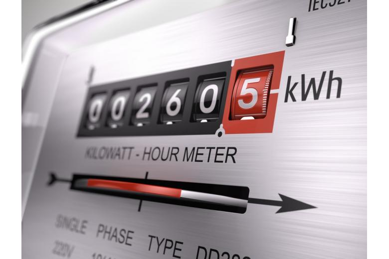 Kilowatt hour electric meter