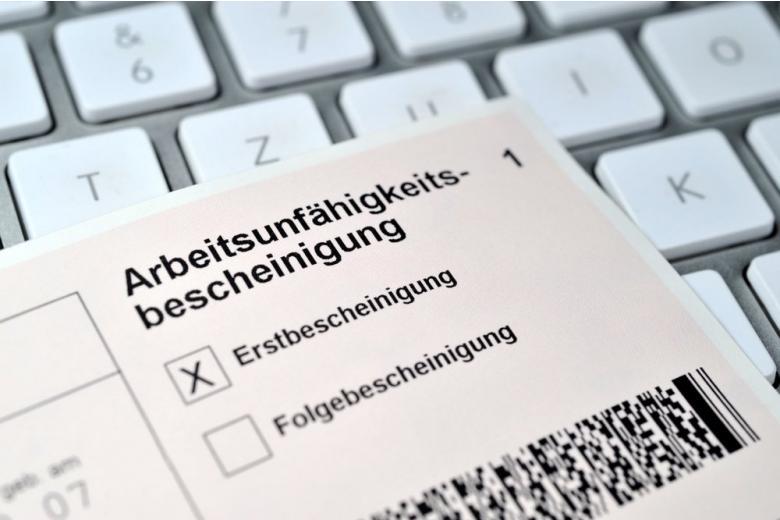 ,больничный лист в Германии