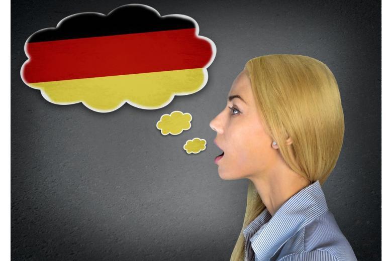 девушка говорит на немецком