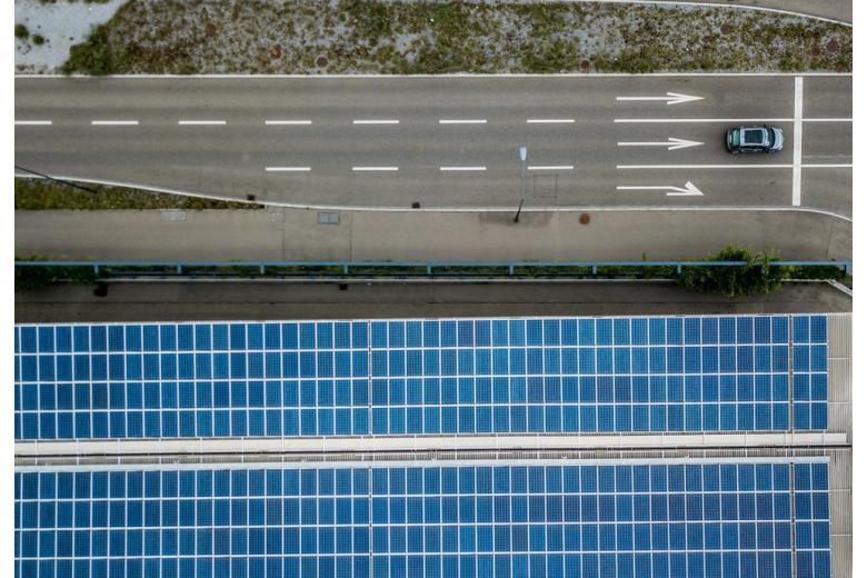 дорога солнечные панели