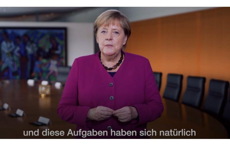Ангела Меркель обращается к немцам