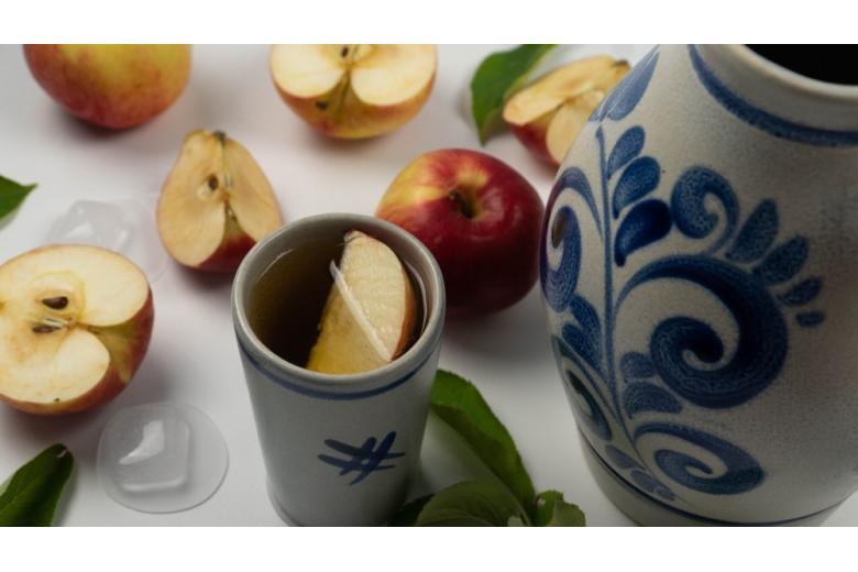 Traditional Frankfurt apple wine in a jug bembel
