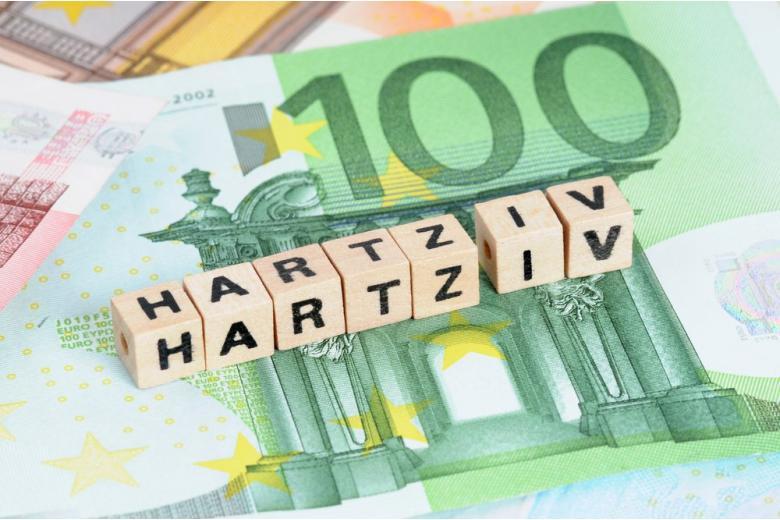 Надпись Hartz IV