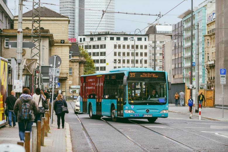 Автобус во Франкфурте