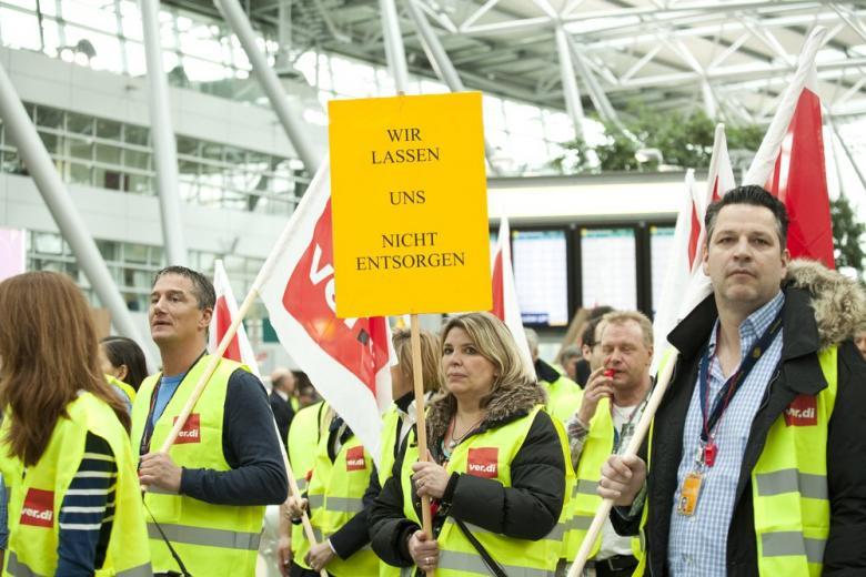 забастовка в аэропорту
