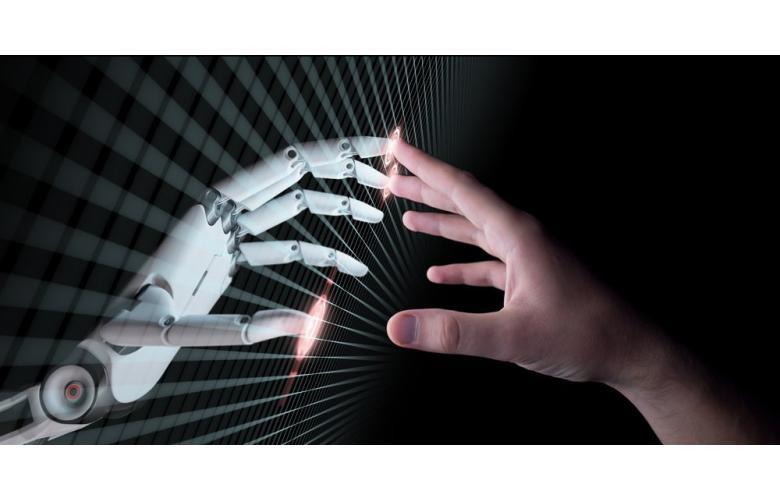 Коллаж робот и человек