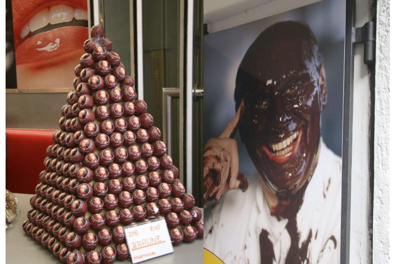 конфеты Mozartkugel в магазине Зальцбурга