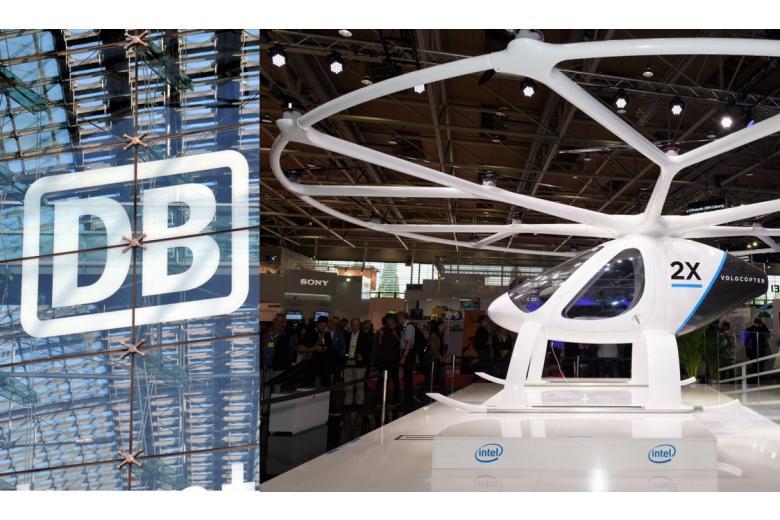 Deutsche bahn logo and airtaxi