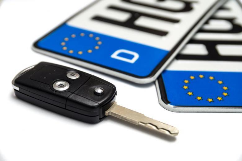 номера и ключи от автомобиля