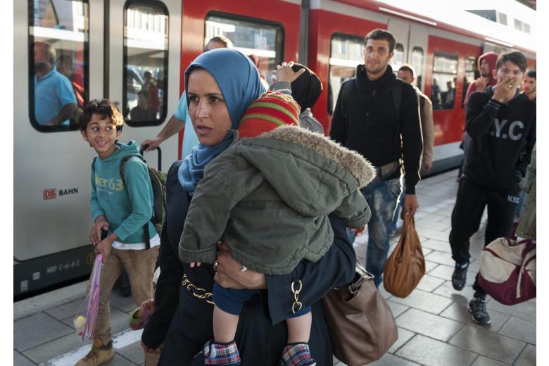 беженцы на вокзале