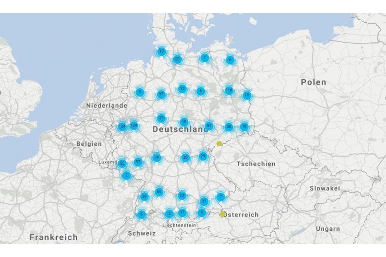 Карта аварийных мостов Deutsche Bahn