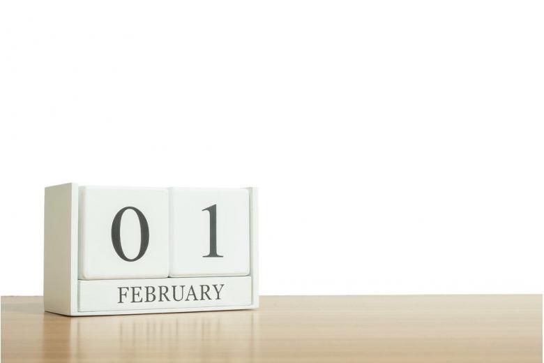 Календарь 1 февраля