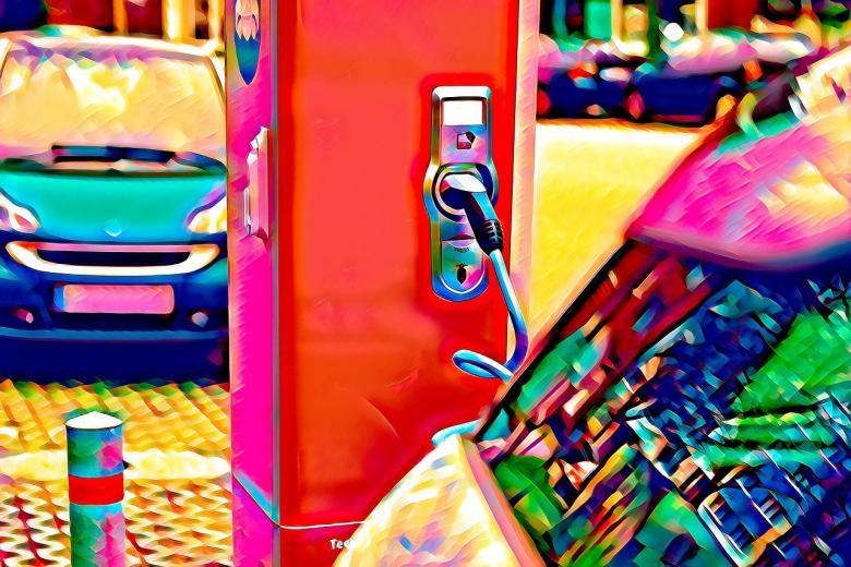 Заправка для электромобиля