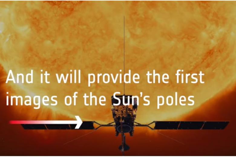 Полет спутника к Солнцу