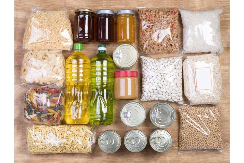 emergency food stock