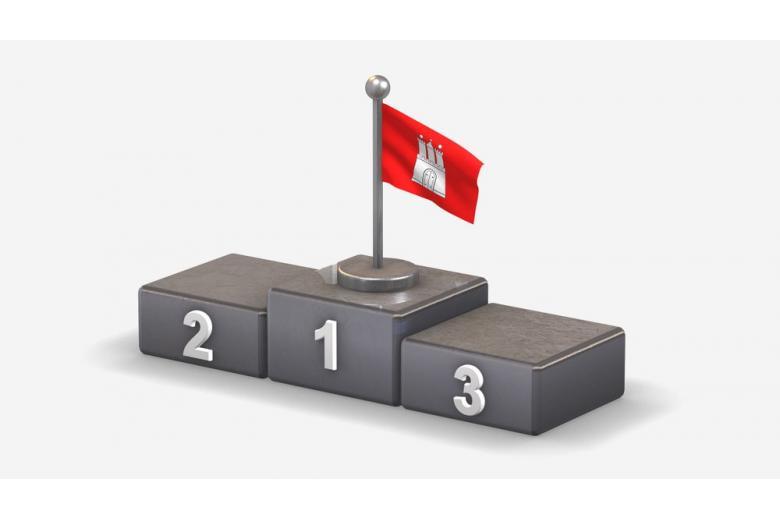 флаг Гамбурга