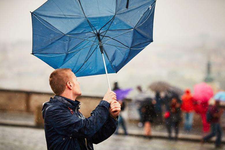 ветер сломал зонт