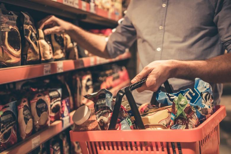 Покупка в супермаркете