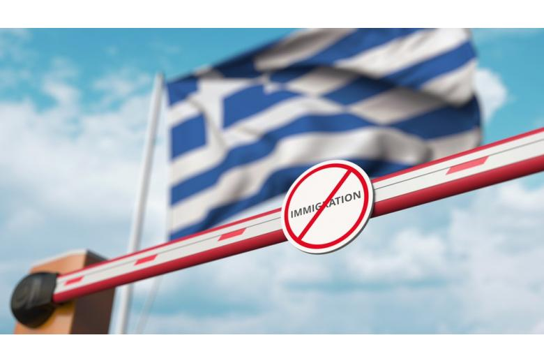 коллаж. Граница Греции