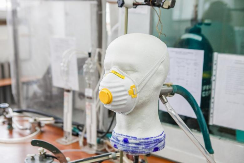 Respirator design. Test on the Mannequin