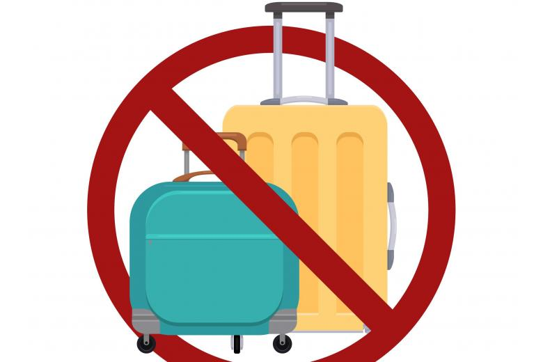 картинка знак багаж запрещен