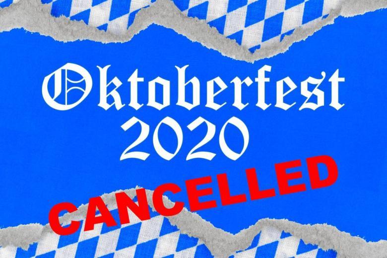 Надпись Октоберфест на фоне флага Баварии картинка