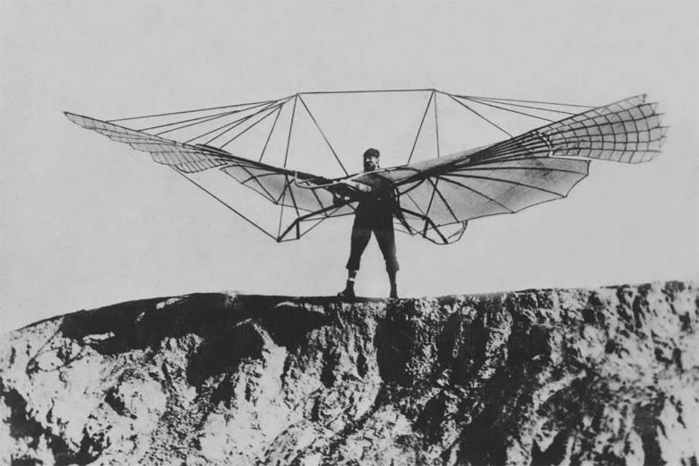 Отто Лилиенталь и его летательный аппарат. Фото: artsandculture.google.com