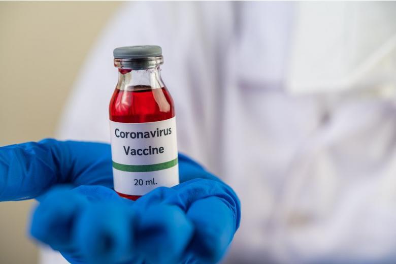 Ампула с вакциной от коронавируса фото
