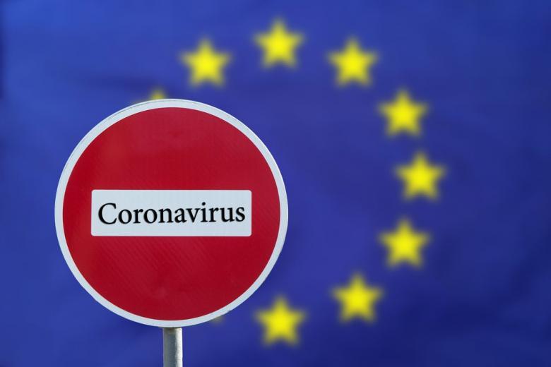 знак запрещающий въезд в ЕС из-за коронавируса фото