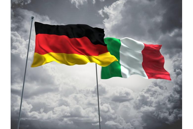 Флаг Германии и Италии фото