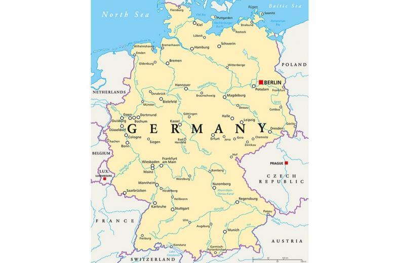 Карта рек Германии фото
