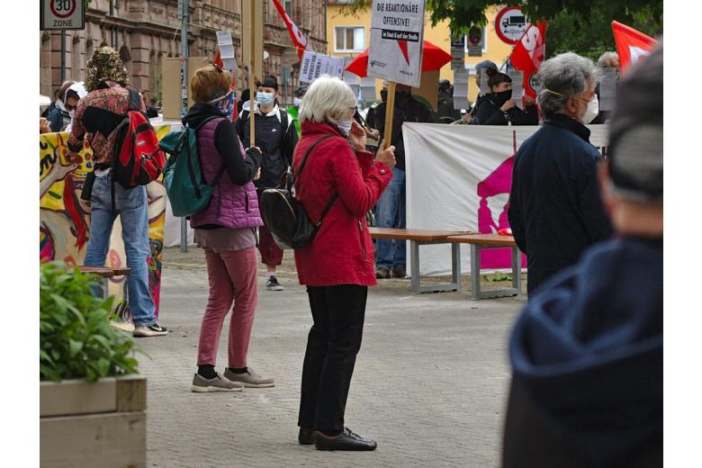 протест о время карантина фото