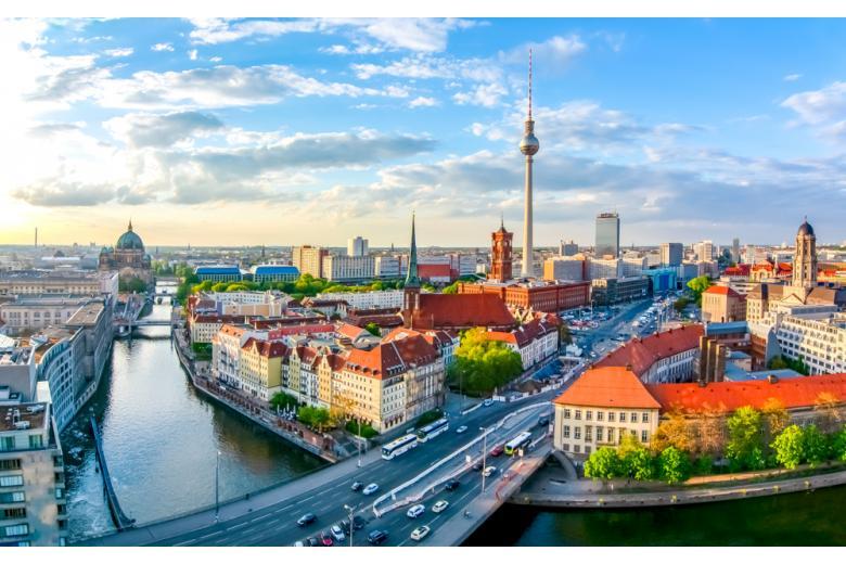 Берлинский городской пейзаж фото