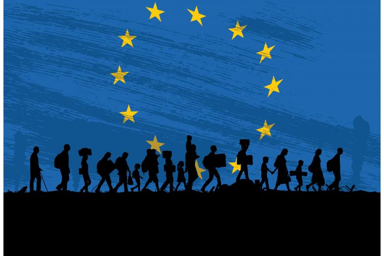 беженцы направляются в ЕС фото