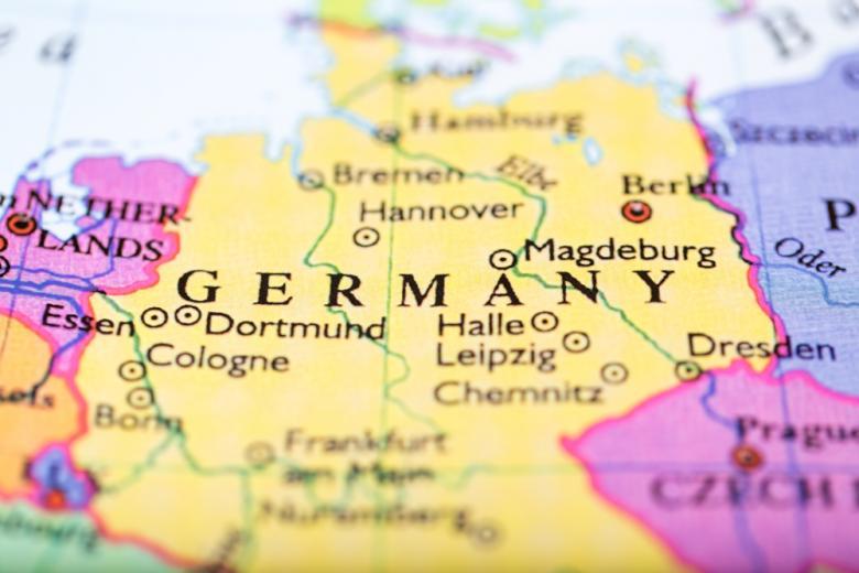 Германия на карте Европы фото
