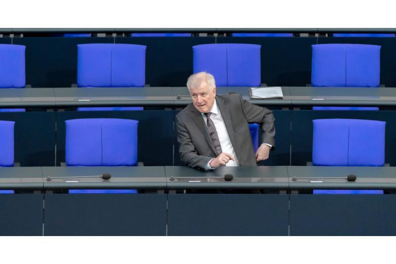 Хорст Зеехофер в Бундестаге фото