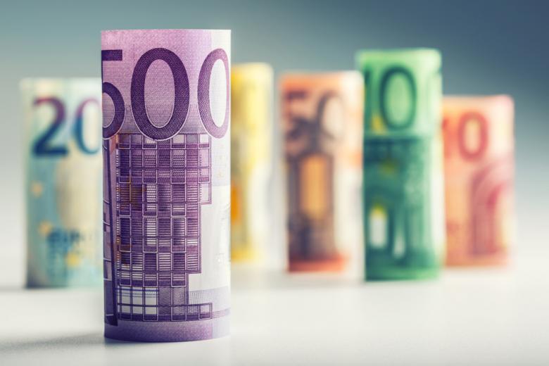 купюры евро разного номинала фото