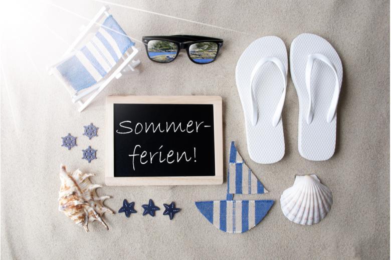 надпись летние каникулы на немецком языке фото