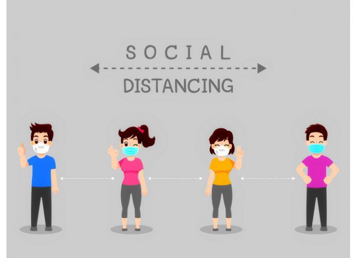 Социальная дистанция остается актуальным требованием фото