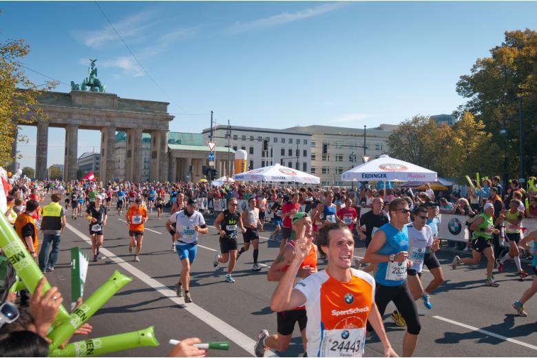 Спортсмены на Берлинском марафоне фото