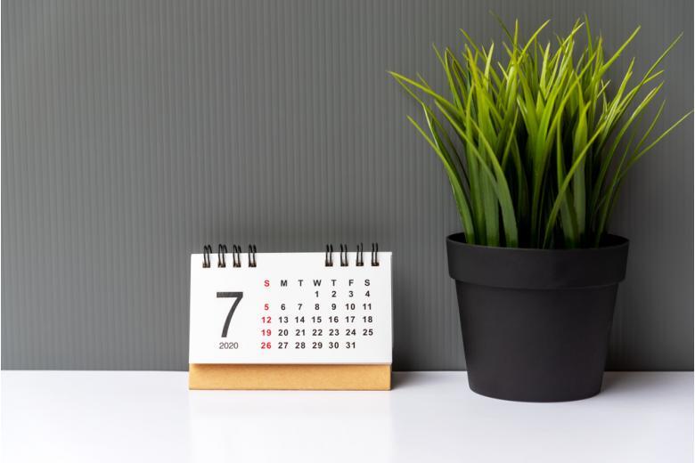 календарь на июль 2020 года фото