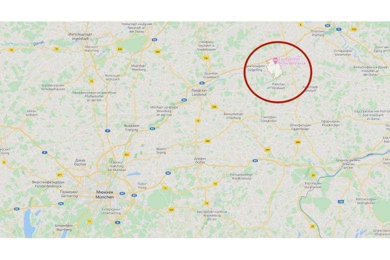 Карта расположения общины Мамминг в Bayern фото