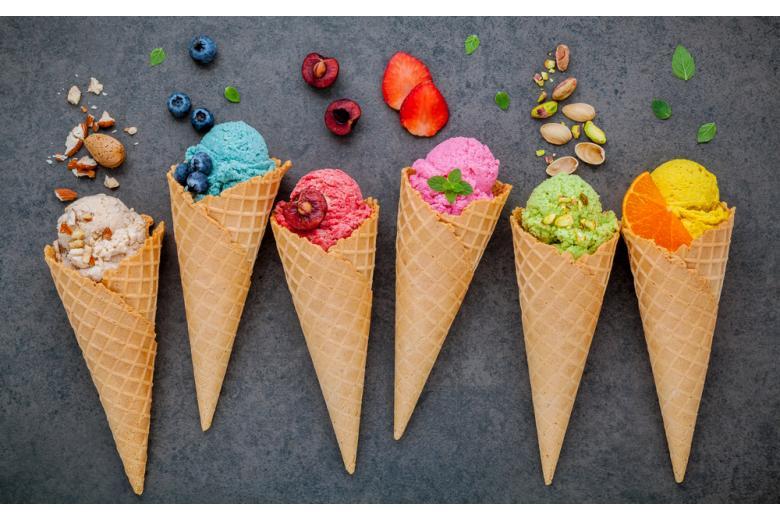 Конусы с мороженым фото