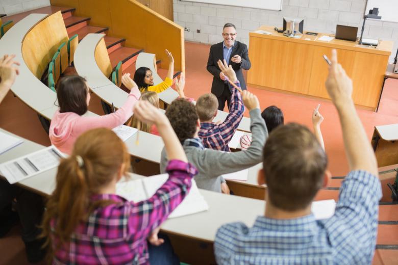лекция в университете фото