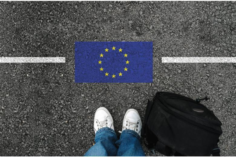 турист на границе ЕС фото