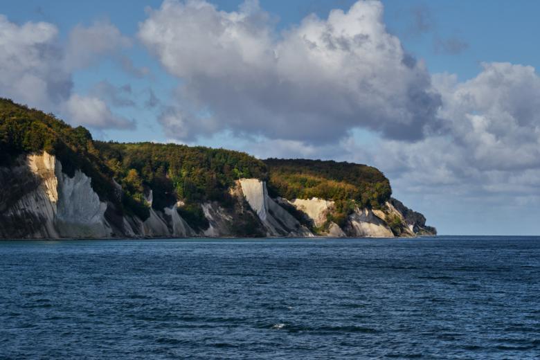 Меловая скала на острове Рюген фото