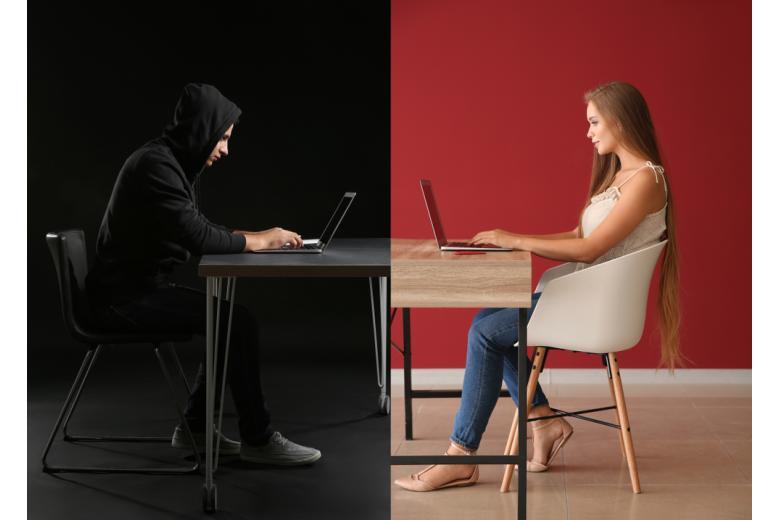 Концепция интернет-мошенничества фото