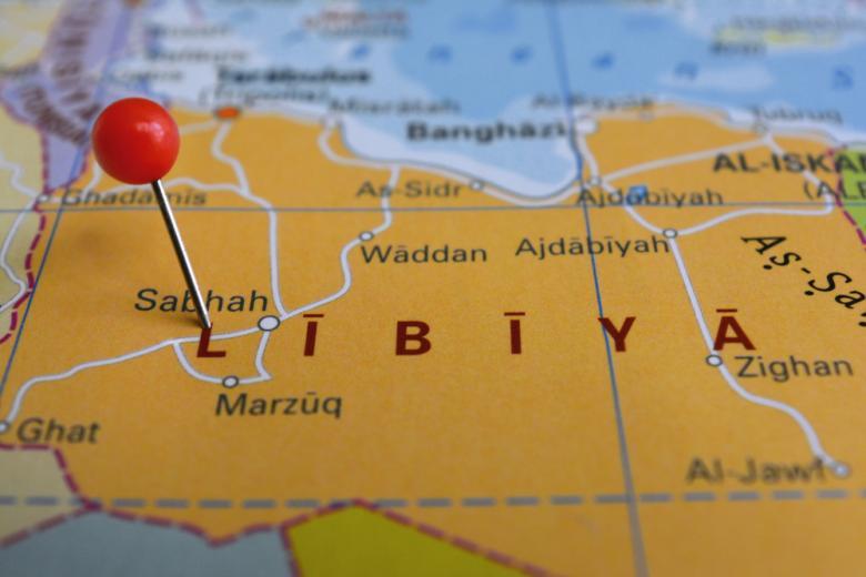 Ливия на карте Африки фото