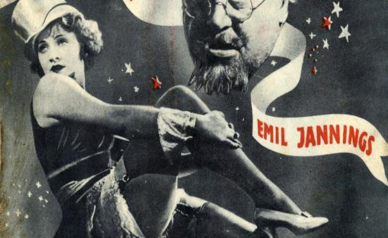 Марлен Дитрих на постере кинокартины Голубой ангел фото