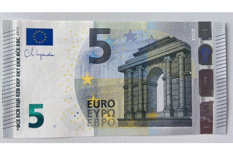 Новые купюры евро фото